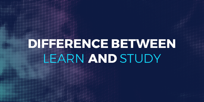 Difference between learn and study