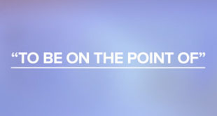 To be on the point of