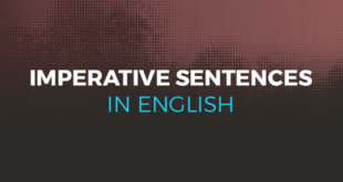 Imperative sentences in English