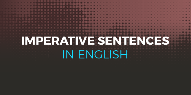 Imperative sentences in English