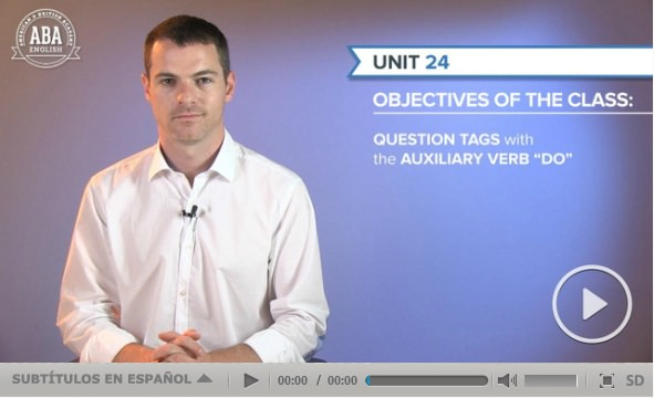 """Teacher David explains how to make question tags with """"do"""" ABA English"""