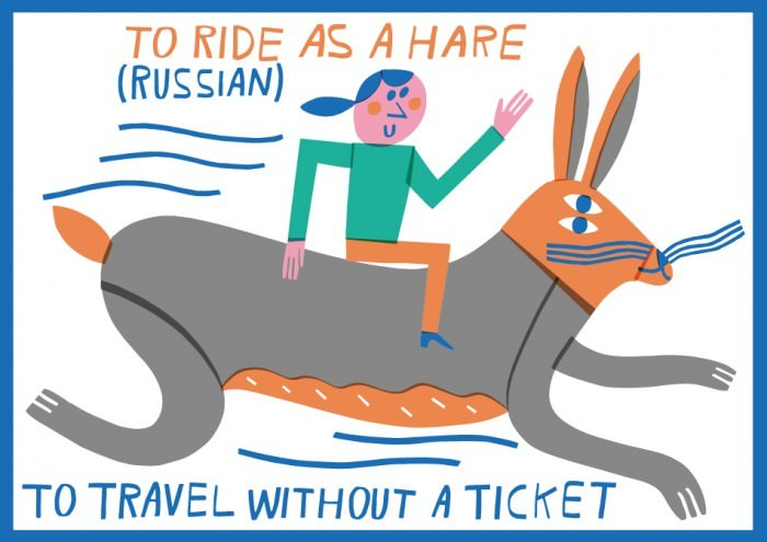 Russian-idiom-in-English-To-ride-as-a-hare-ABA-English