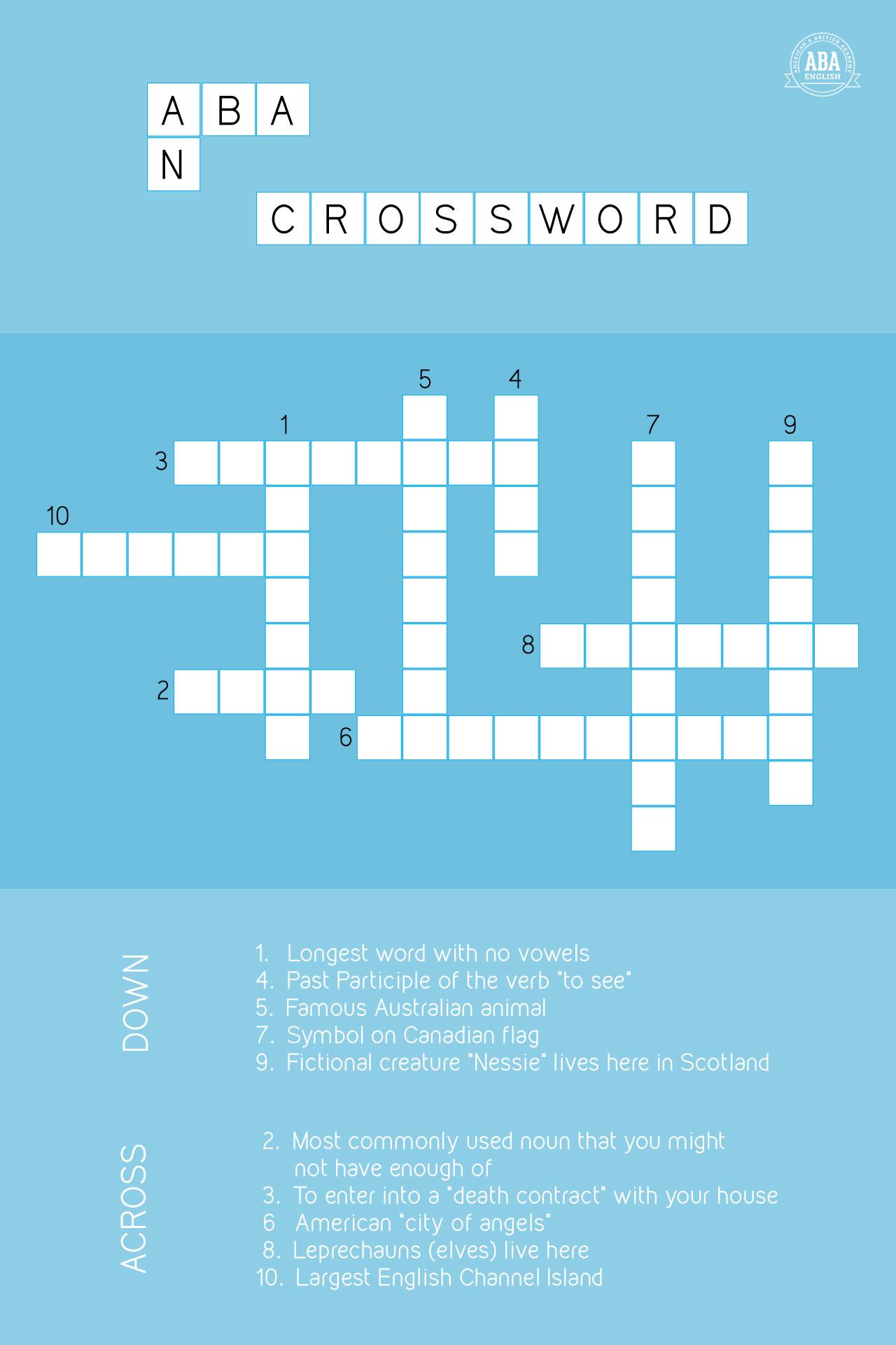 23-april-english-language-day-crossword-abaenglish