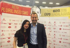 ABA's Chief Learning Officer Maria Perillo with Busuu's CEO Bernhard Niesner