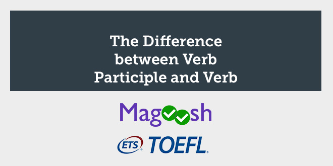 The Difference between verb participle and verb