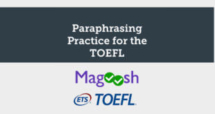 paraphrasing practice for the toefl