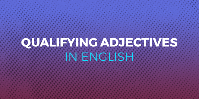 Qualifying adjectives in English