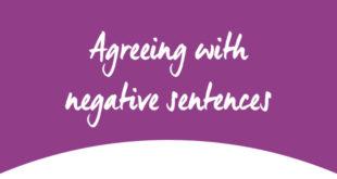Agreeing with negative sentences ABA Englih