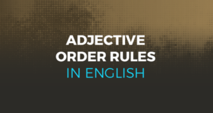 Adjective order rules in English