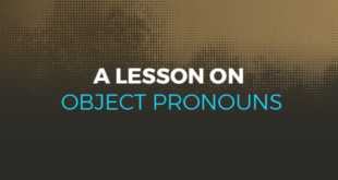 A lesson on object pronouns