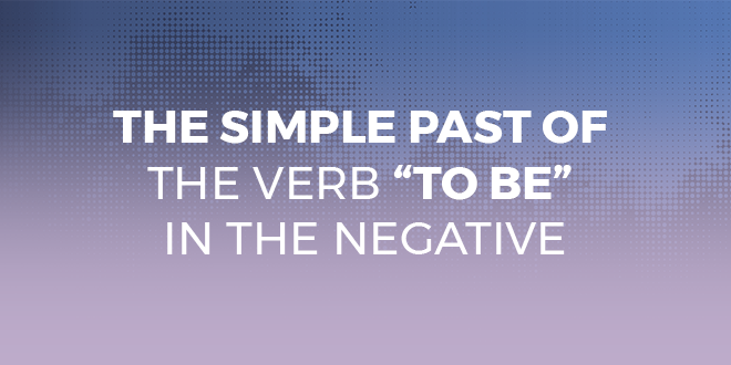 verb to be negative