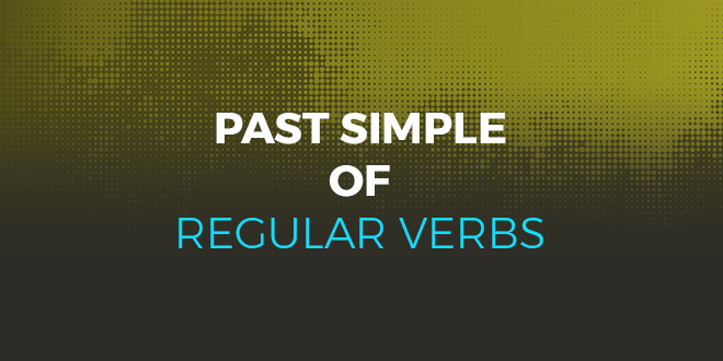 Past simple of regular verbs