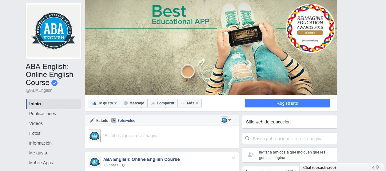 facebook aba english