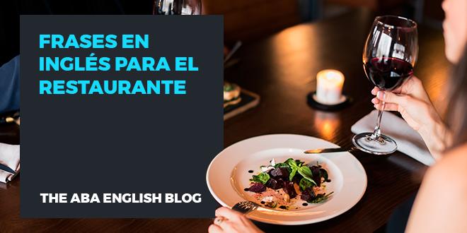 Frases en inglés para el restaurante
