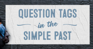question tags in the simple past