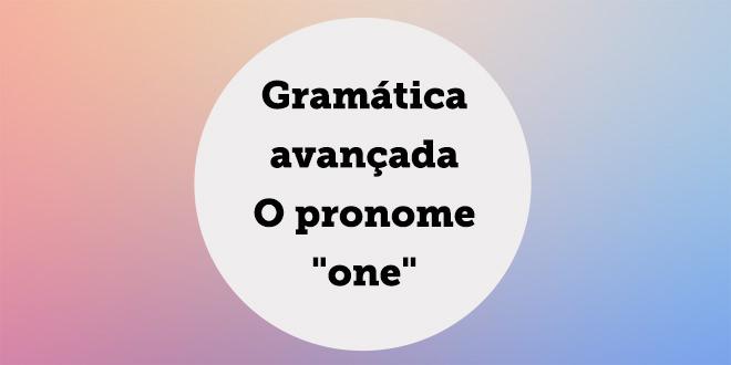 o pronome one