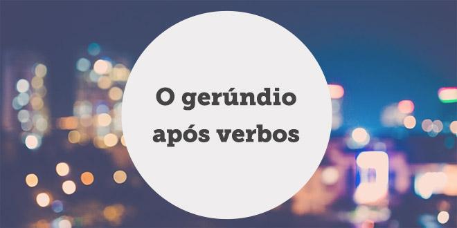 gerundio apos verbos