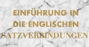 Einführung in die englischen Satzverbindungen